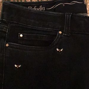 Rafaela Jeans with Embroidered Bees - Slimming